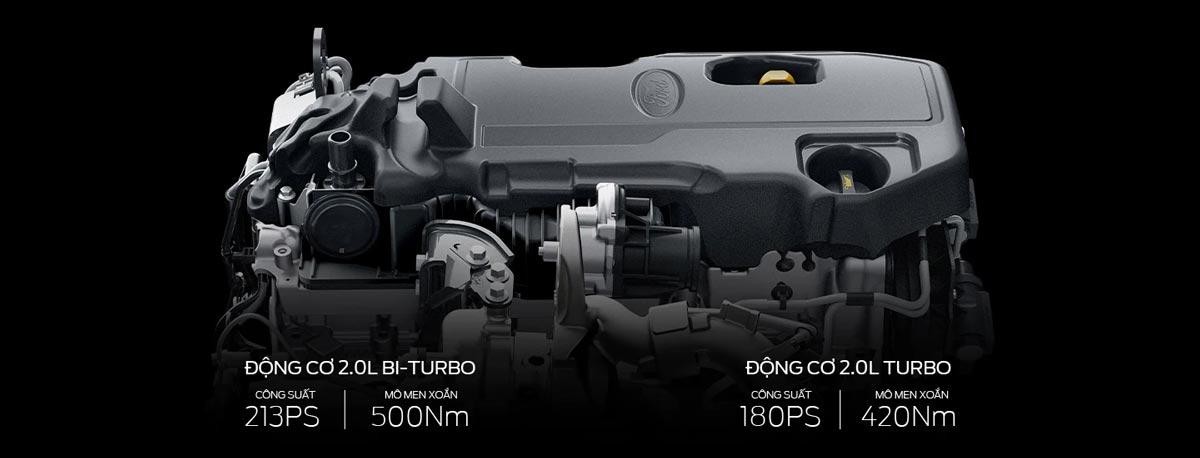 Động cơ 2.0L Turbo và Bi-Turbo